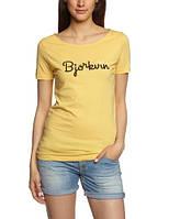 Женская футболка в желтом цвете W Hert Tee от Bjorkvin в размере XS