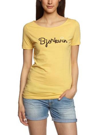 Женская футболка в желтом цвете W Hert Tee от Bjorkvin в размере XS, фото 2