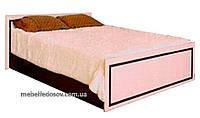 Ким венге светлый; кровать двухспальная (Світ меблів)Без ламелей и матраса