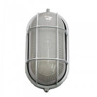 Світильник вологостійкий з гратами MIF 022 60W (білий, чорний) овал