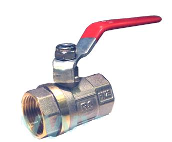 Кран шаровый RS никелированный вода 20мм ВВ рычаг