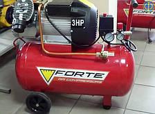 Компрессор Forte VFL 50 двухцилиндровый (2,2 Квт, 420 л/мин, 50 л)