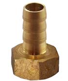 Штуцер шланга ВР 15х18мм латунный елочкой, фото 2