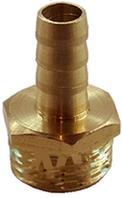 Штуцер шланга НР 15х18мм латунный елочкой