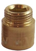 Удлинитель резьбы  Ду20х30мм латунный STA, фото 2
