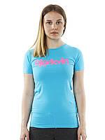 Женская футболка в бирюзовом цвете W Logo Tee от Bjorkvin в размере S