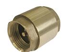 Клапан обратный Ду15мм с латунным штоком