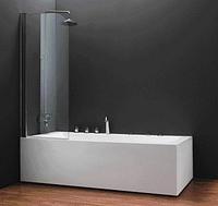 Шторка на ванну QP93 левая Куллер пул 750х1400 chrome grape
