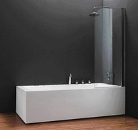Шторка на ванну QP93 правая Куллер пул 750х1400 chrome grape