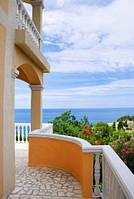 """Фотообои """"Вид на море с балкона"""", Фактурная текстура (холст, иней, декоративная штукатурка)"""
