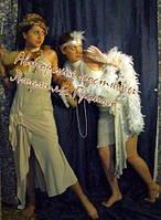 Бежевое платье в стиле 20-х годов. Прокат.
