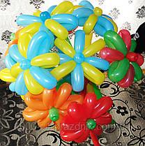 Цветок из шариков большой