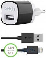Зарядное устройство Belkin Mixit + USB cable iPhone 5 Black