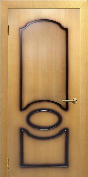 Двери межкомнатные шпонированные Виктория глухие Омис