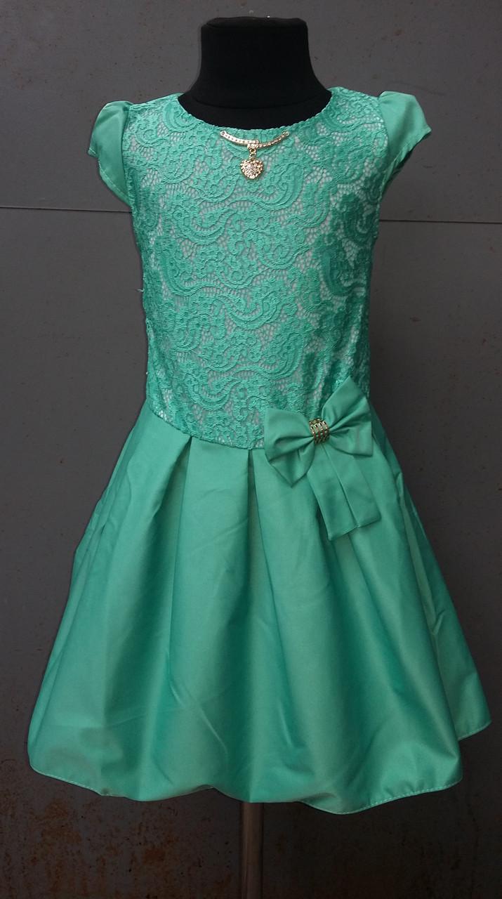00c7b046fb6 Платье для девочек с гипюровой вставкой от 7 до 9 лет  продажа