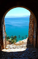 "Фотообои ""Море через арку"""