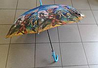 Зонт трость детский, легкий,прочный в синем цвете