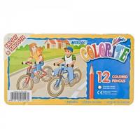 """Цветные карандаши """"MARCO"""" 12 цв. шестигр. в мет. уп. 1100-12TN"""