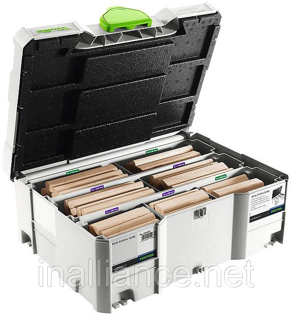 Вставные шипы Domino DS/L D12/D14 комплект бук и фреза Festool 498205