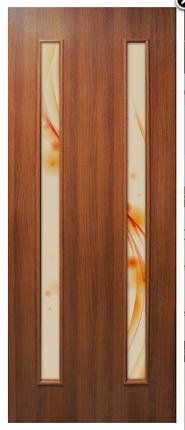Полотно дверное Вероника ПВХ с фотопечатью на стекле, фото 2