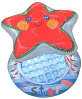 Детский бассейн Морская звёздочка 57428, круглый, с навесом-звездой и игрушками, 102*86см