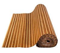 Обои бамбуковые, темные/светлые, 8/8 мм, ширина 2.5м
