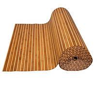 Обои бамбуковые, темные/светлые, 17/5 мм, ширина 2.5м