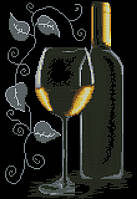 """Схема для вышивки """"Бокал с вином"""""""