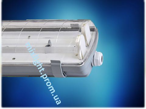Герметичный светильник IP-65 ЛПП 2х36 под led лампы, фото 2