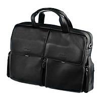 Женская деловая сумка Sheff S5005.10 Черная натуральная кожа