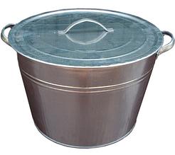 Бак оцинкованный с крышкой ведро 25 литров