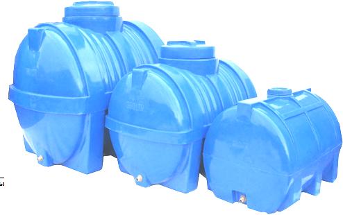 Емкость горизонтальная 1000 литров (138х97х106) 1-слойная, фото 2
