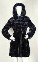 Шуба из мутона с капюшоном молодежная Z-1316-2, фото 1