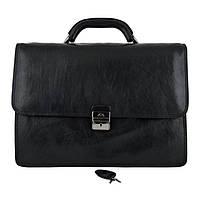 Портфель мужской кожаный Tony Perotti 8024-it Чёрный