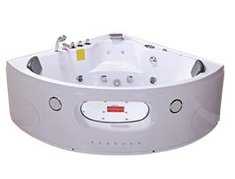 Ванна акрилова з гідро - та аеромасажем, кутова TLP-638 155*155*63 см