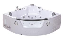 Ванна акрилова з гідро - та аеромасажем, кутова TLP-632 152*152*66 см