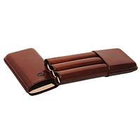 Футляр JEMAR 746430 для 3 сигар, цвет коричневый