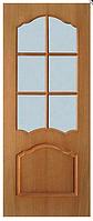 Двери шпонированные со стеклом Каролина