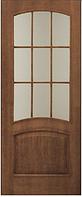 Двери шпонированные Капри со стеклом