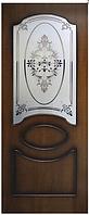 Двери шпонированые Виктория со стеклом Омис