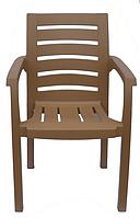Кресло пластиковое Жимолость бежевое стул пластиковый