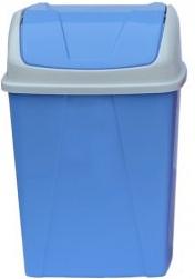 Ведро для мусора с поворотной крышкой 8,25 л голубое  , фото 2
