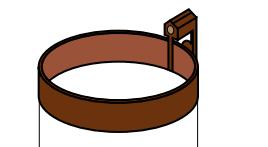 Держатель трубы металлический Ø 100 х 160 мм