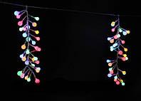 """Светодиодная новогодняя гирлянда """"спелый виноград"""" 6х0,3м 512 led прозрачный пвх"""