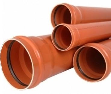 Труба ПВХ 110/3,2/1000мм для внешней канализации, фото 2