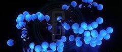 """Светодиодная новогодняя гирлянда """"шарики 25мм """" синяя, фото 2"""