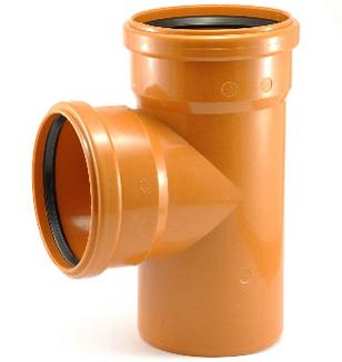 Тройник 160/110 90 градусов ПВХ для внешней канализации, фото 2