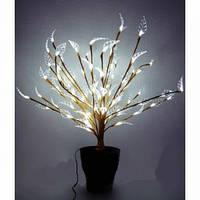 Светодиодное дерево вазон Бонсай  60 см белое