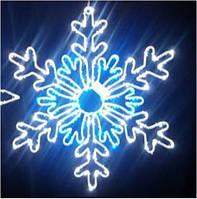 Светодиодный мотив Снежинка 71 см бело-голубая