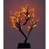 Декоративное светодиодное дерево Бонсай, 45 см желтое